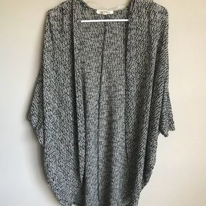 Painted threads knit oversized cardigan